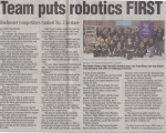 Team puts Robotics FIRST - Oakland Press (3/11/2009)