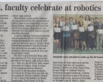 Students and Faculty Celebrate at Robotics Banquet - Oakland Press (2009)
