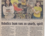 Robotics Team Runs on Smarts - Oakland Press (Fall 2003)
