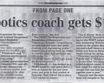 FIRST Coach gets $1,000 Gift - Oakland Press (1/7/2006)