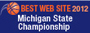2012 Michigan State Championship Best Website Award