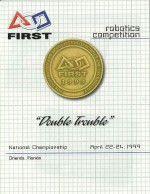1999 FIRST: Double Trouble Logo