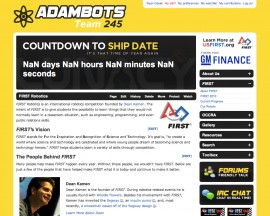 2008 Website - AdamBots v3