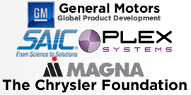 Our Sponsors: General Motors, Plex Systems, Inc., SAIC, Magna, and The Chrysler Foundation.